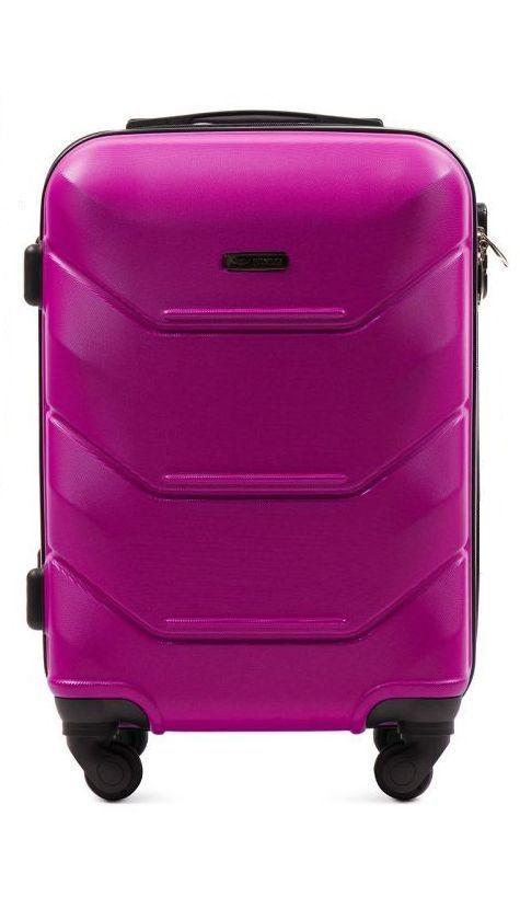 Cestovní kufr WINGS 147 ABS PINK malý xS
