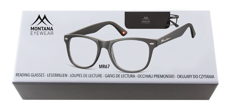 MONTANA EYEWEAR Dioptrické brýle BOX67 BLACK +1,50