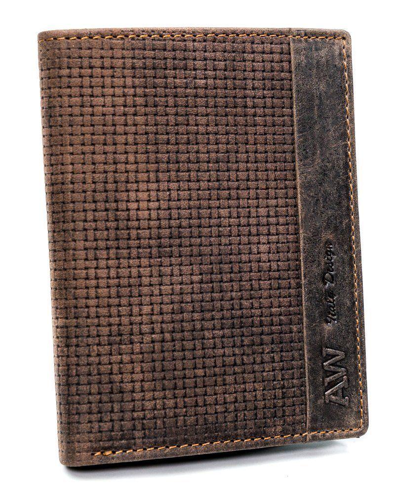 Kožená hnědá pánská peněženka v krabičce Always Wild