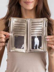 Prostorná zlatá dámská peněženka v krabičce MILANO DESIGN E-batoh