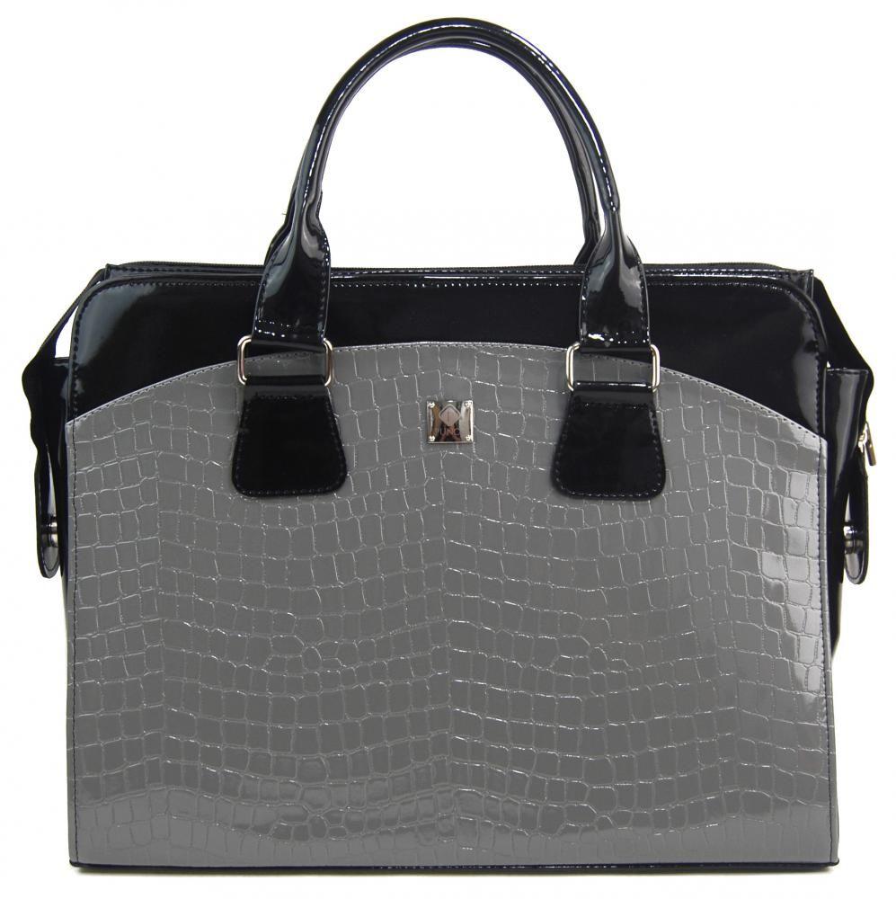 PUNCE LC-01 šedá dámská kabelka pro notebook do 15.6 palce