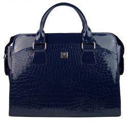 PUNCE LC-01 tmavě modrá dámská kabelka pro notebook do 15.6 palce