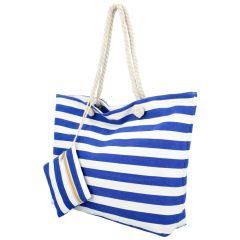Velká plážová taška přes rameno v námořnickém stylu modrá HC70-6