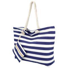 Velká plážová taška přes rameno v námořnickém stylu tmavě modrá HC70-2