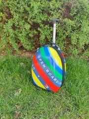 Dětský skořepinový kufr rainbow 2