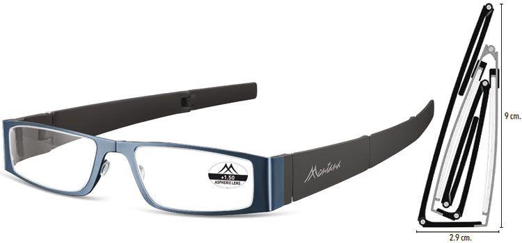 MONTANA EYEWEAR SKLÁDACÍ dioptrické brýle MR26B BLUE +3,00
