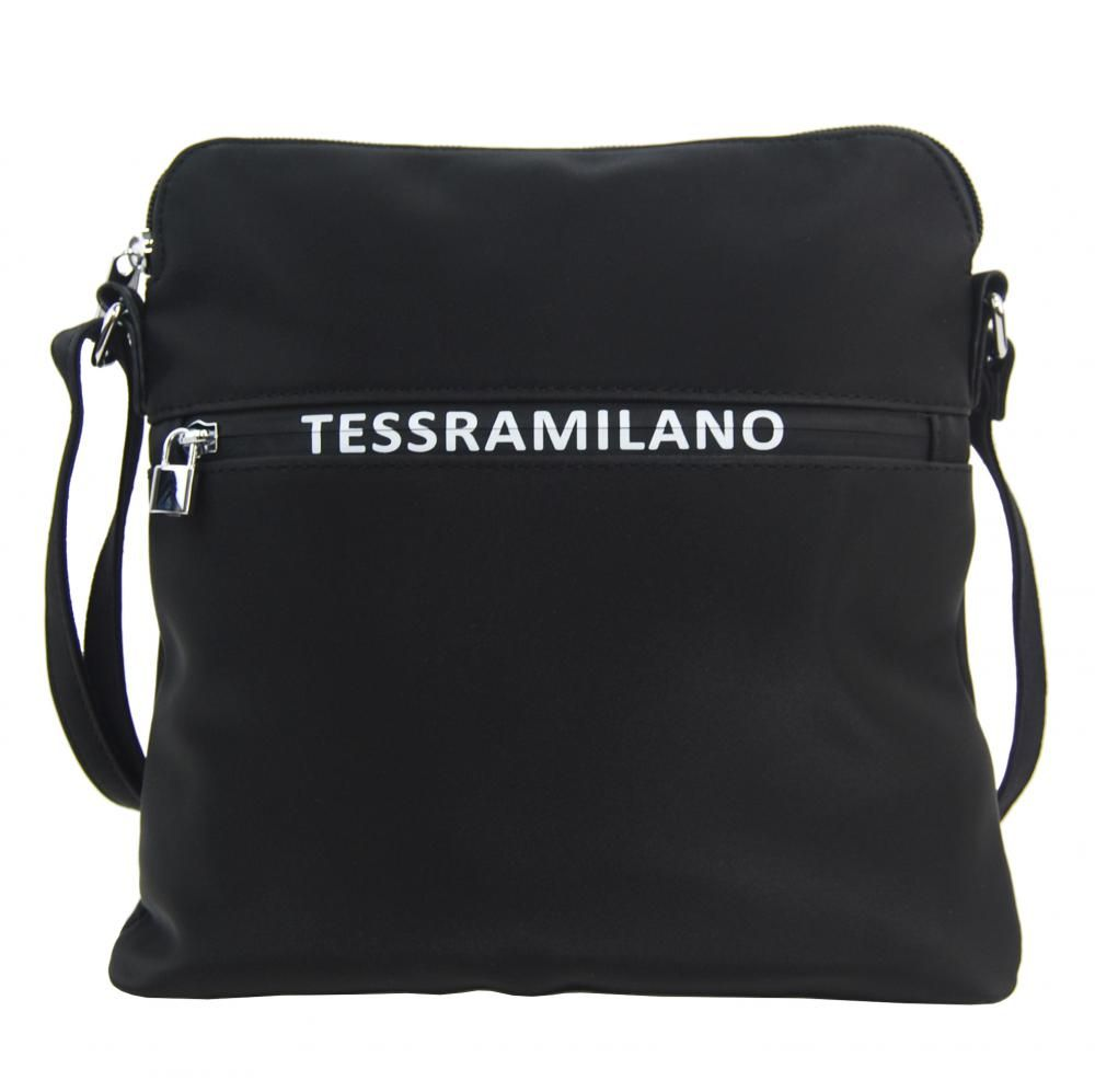 MARIA MARNI Sportovní crossbody dámská textilní kabelka 5329-BB černá