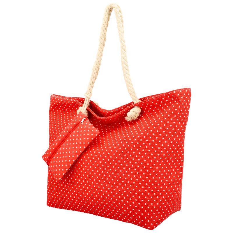 Linea Moda Velká moderní plážová taška červená BS762