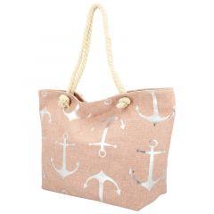 Velká moderní plážová taška růžová 21506