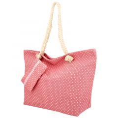 Velká moderní plážová taška růžová BS762