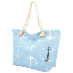 Velká moderní plážová taška světle modrá 21506