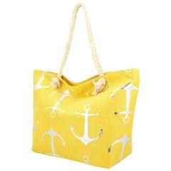 Velká moderní plážová taška žlutá 21506