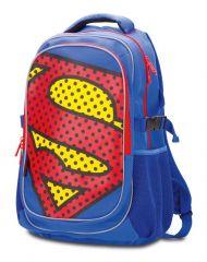 Školní batoh s pončem Superman + pláštěnkové pončo