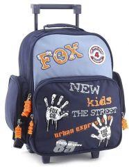 Školní batoh trolley Fox Co. Otisky rukou