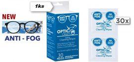 ČISTÍCÍ VLHČENÉ UBROUSKY OPTIC CLEAN /  / proti zamlžování  30ks