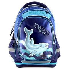 Target Školní batoh , 3D Dolphin, barva modrá