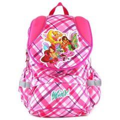 Winx Club Školní batoh , růžový, motiv kostky