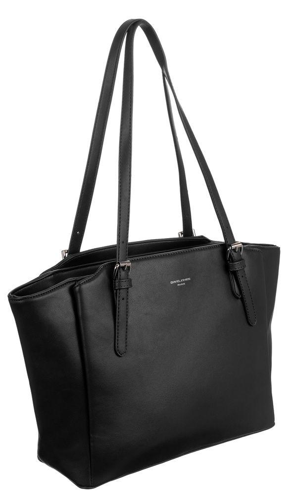 David Jones DAVID JONES Černá velká dámská kabelka přes rameno CM6226