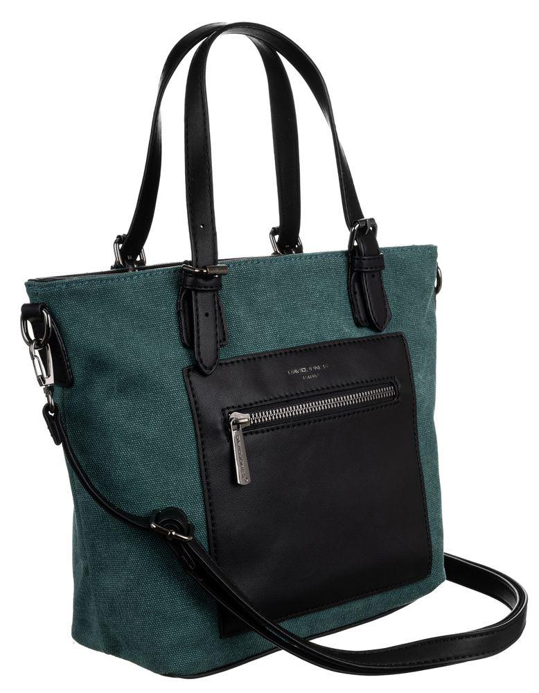 David Jones DAVID JONES Zelená menší textilní dámská kabelka