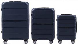 Cestovní kufry sada WINGS SPARROW PP05 POLIPROPYLEN BLUE L,M,S