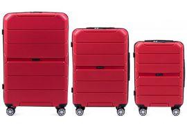 Cestovní kufry sada WINGS SPARROW PP05 POLIPROPYLEN RED L,M,S