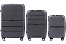 Cestovní kufry sada WINGS SPARROW PP05 POLIPROPYLEN GREY L,M,S