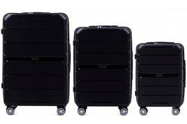 Cestovní kufry sada WINGS SPARROW PP05 POLIPROPYLEN BLACK L,M,S