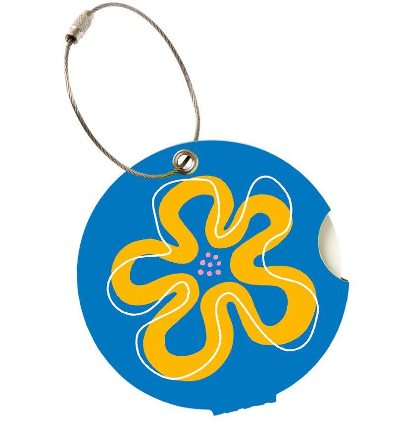 Jmenovka na kufr Addatag - Flower blue E-batoh