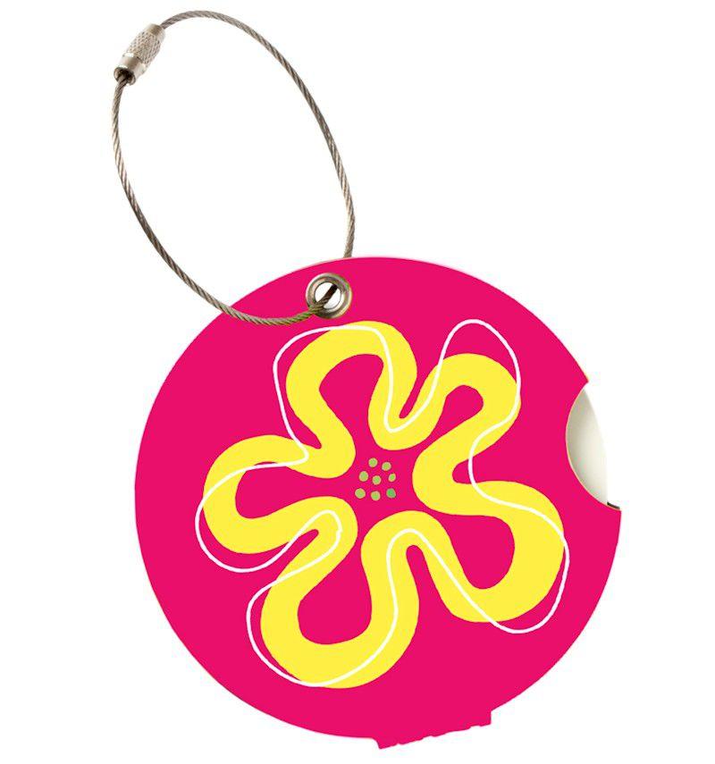 Jmenovka na kufr Addatag - Flower pink E-batoh