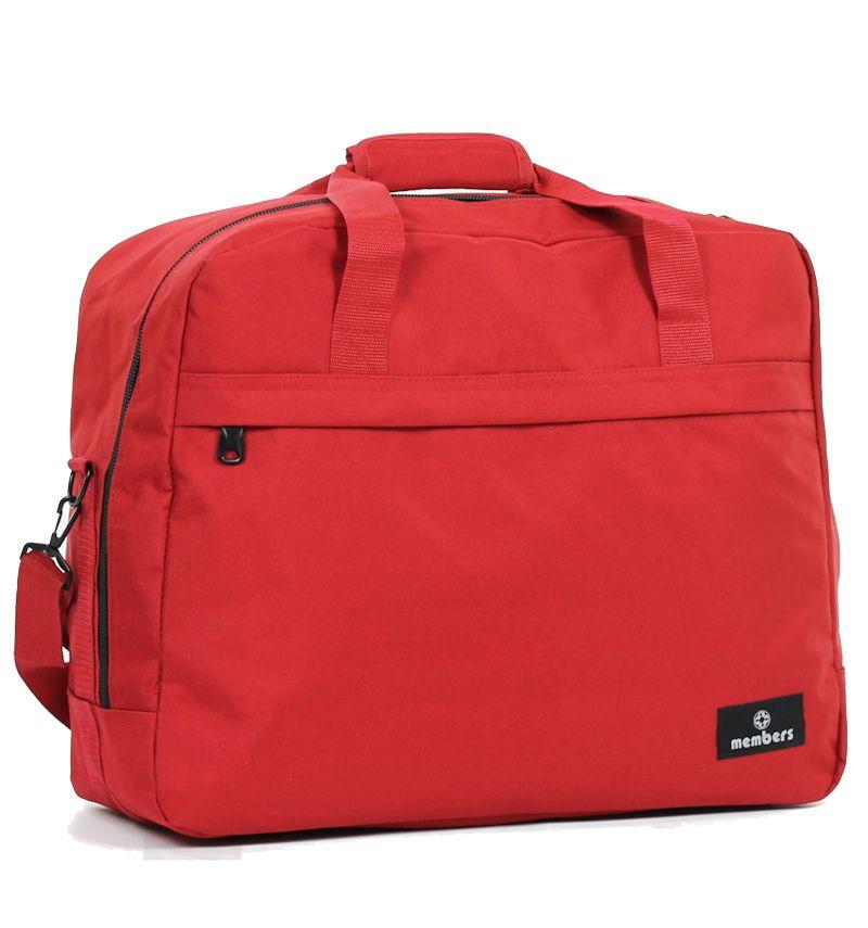 Cestovní taška MEMBER'S SB-0036 - červená E-batoh