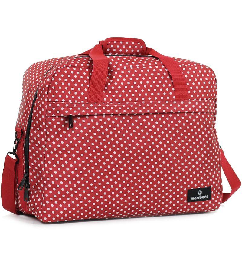 Cestovní taška MEMBER'S SB-0036 - červená/bílá E-batoh