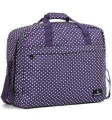 Cestovní taška MEMBER'S SB-0036 - fialová/bílá