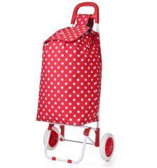 Nákupní taška na kolečkách HOPPA ST-205 - červená