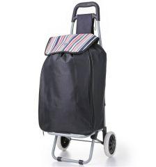 Nákupní taška na kolečkách HOPPA ST-90 - černá E-batoh