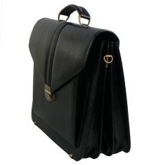 Aktovka REAbags 7173 - černá/nikl E-batoh