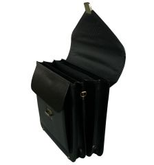 Aktovka REAbags 7173B-TR - černá/nikl E-batoh
