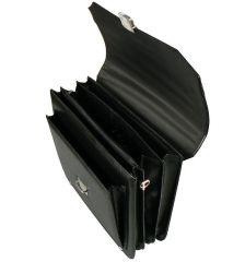 Aktovka REAbags 7253 - černá/nikl E-batoh