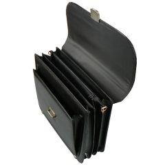 Aktovka REAbags 7416 - černá/nikl E-batoh