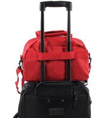 Cestovní taška MEMBER'S SB-0043 - černá/bílá E-batoh