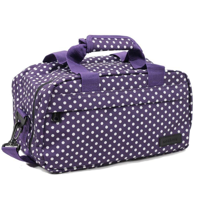 Cestovní taška MEMBER'S SB-0043 - fialová/bílá E-batoh