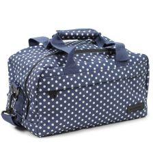 Cestovní taška MEMBER'S SB-0043 - modrá/bílá