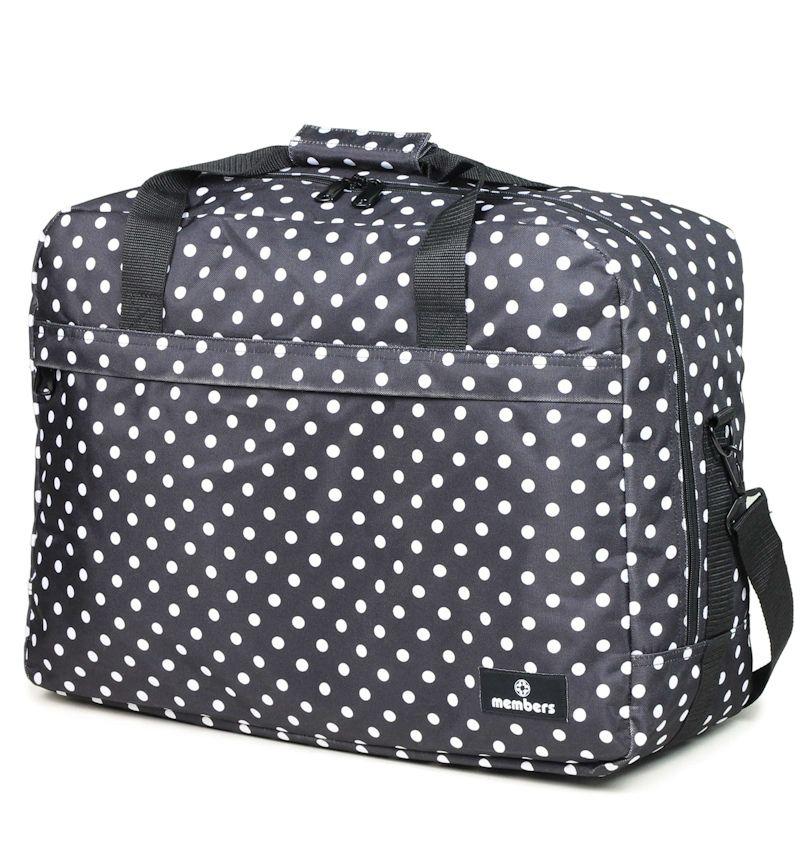 Cestovní taška MEMBER'S SB-0036 - černá/bílá E-batoh