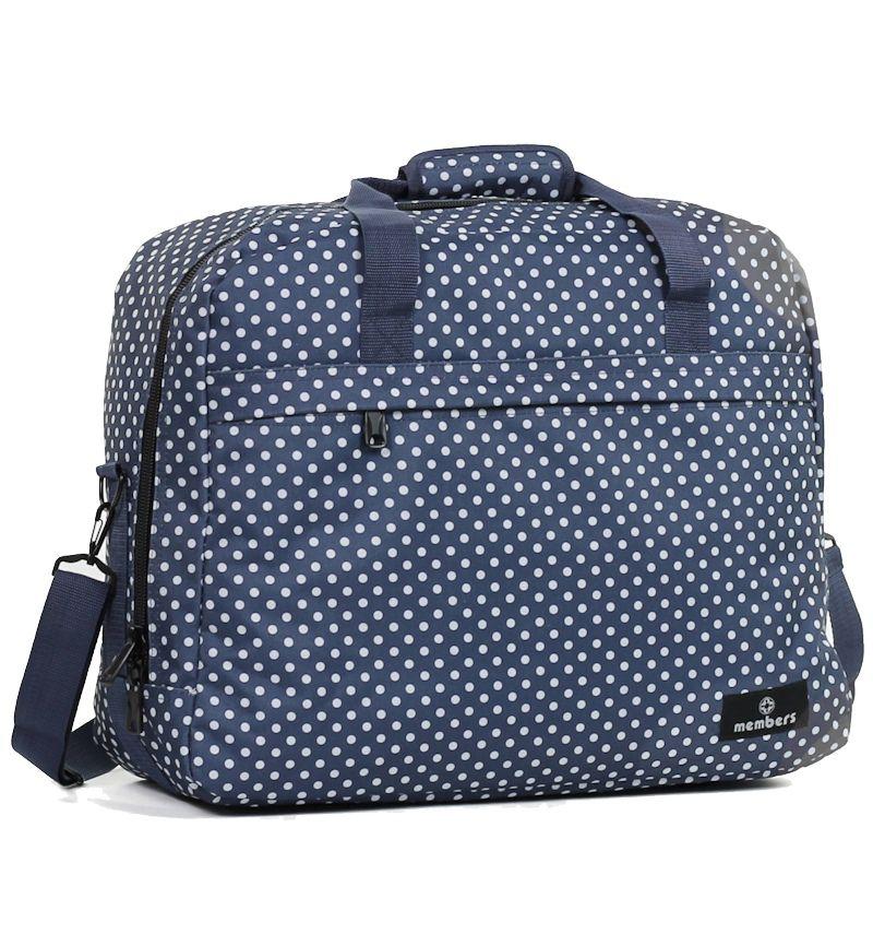 Cestovní taška MEMBER'S SB-0036 - modrá/bílá E-batoh