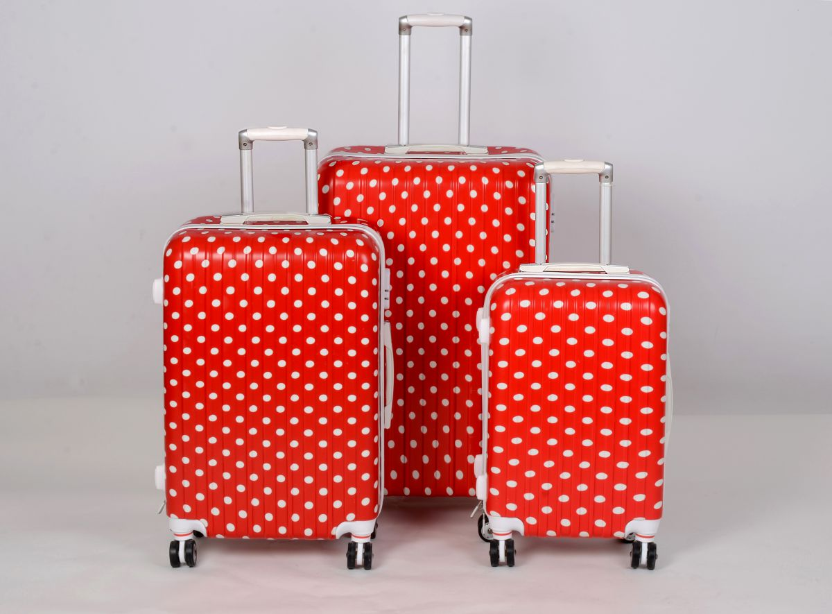 Cestovní kufry sada ABS Trolleykoffer TR-A15 red-dot
