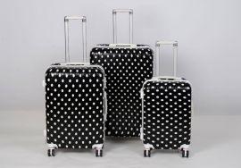 Cestovní kufry sada ABS Trolleykoffer TR-A15 black-dot