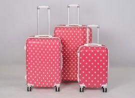 Cestovní kufry sada ABS Trolleykoffer TR-A14 pink-dot