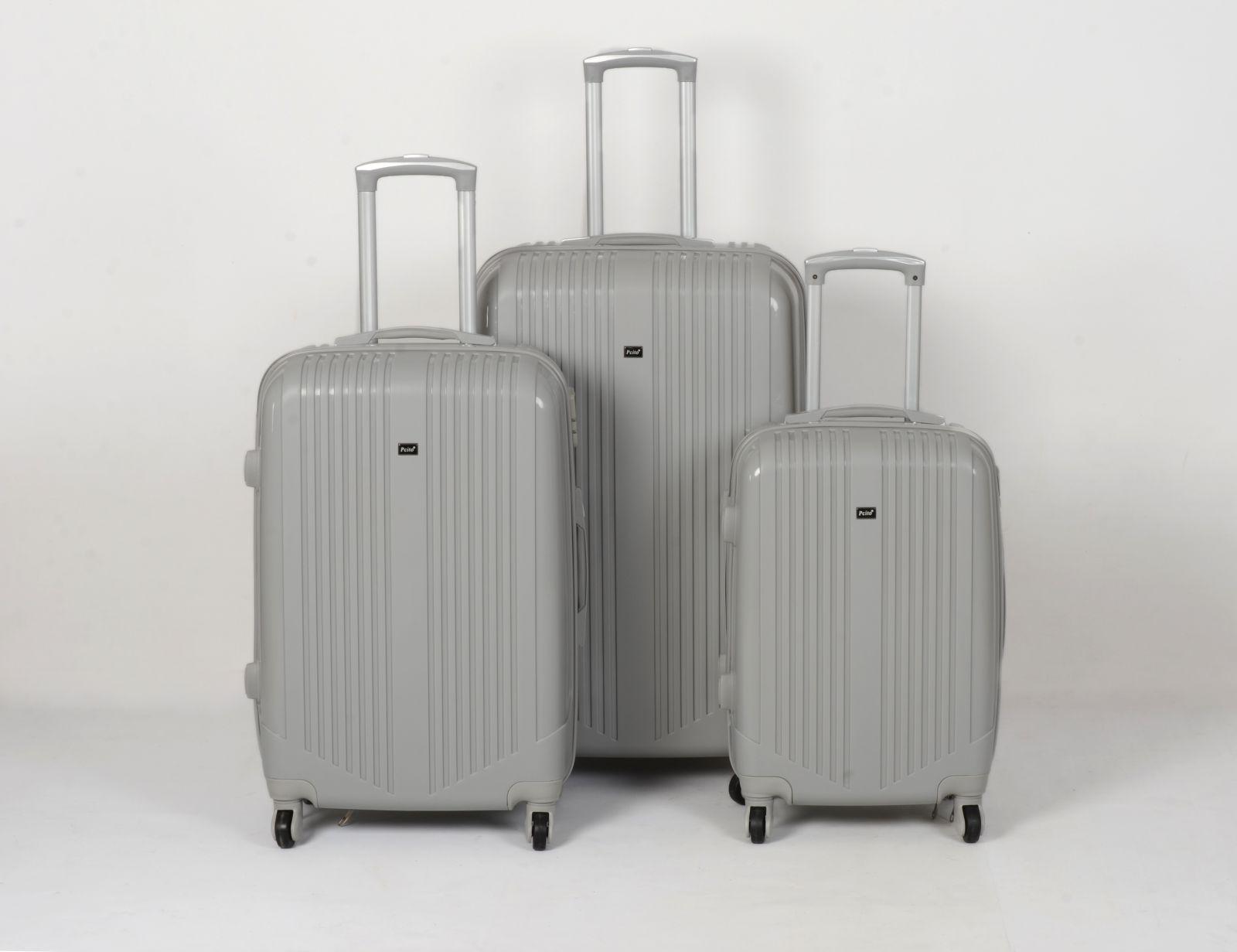 Cestovní kufry sada ABS Trolleykoffer TR-A16 šedá