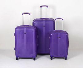 Cestovní kufry sada ABS Trolleykoffer TR-A27 fialová