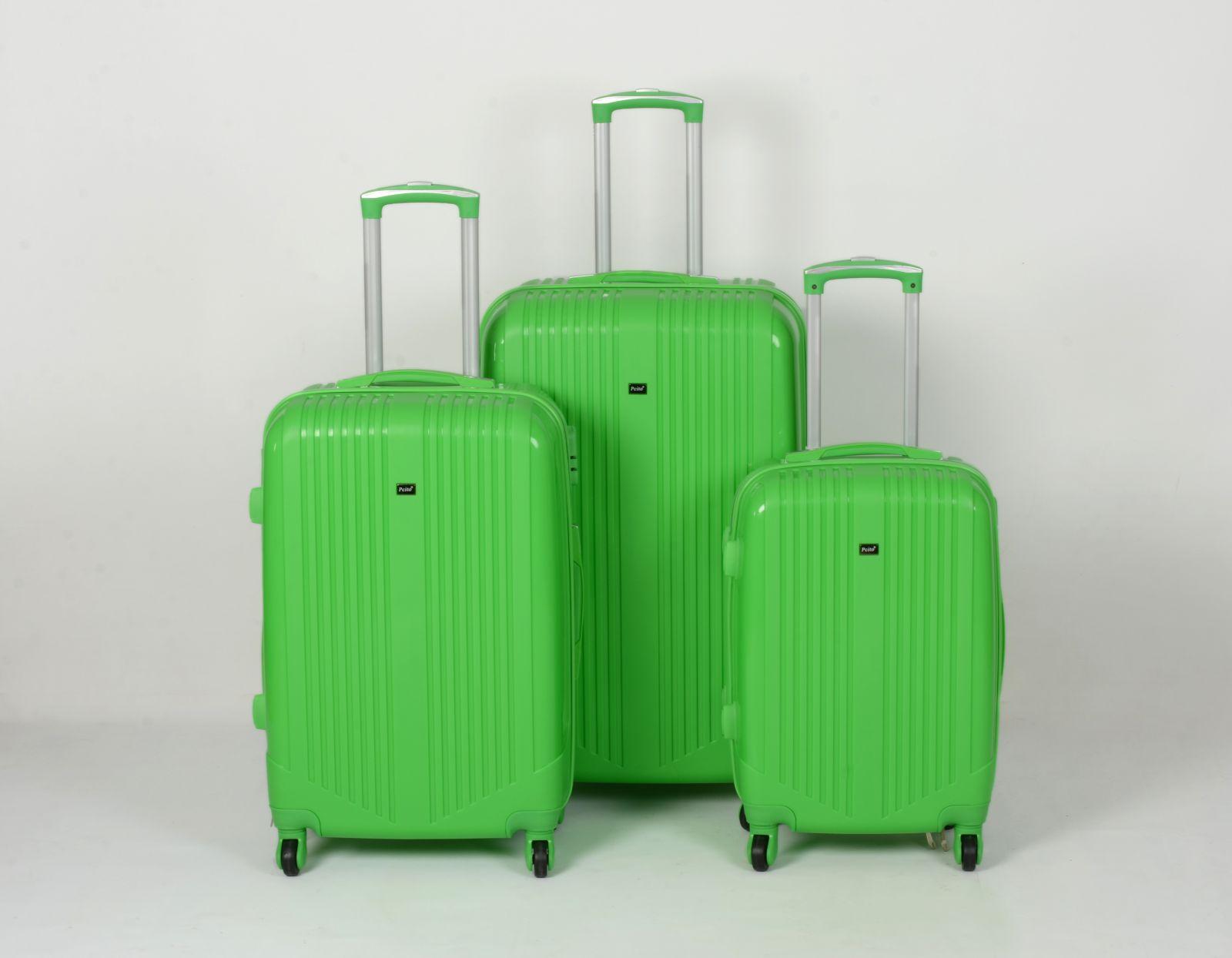 Cestovní kufry sada ABS Trolleykoffer TR-A27 zelená