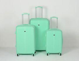 Cestovní kufry sada ABS Trolleykoffer TR-A27 světlo-zelená
